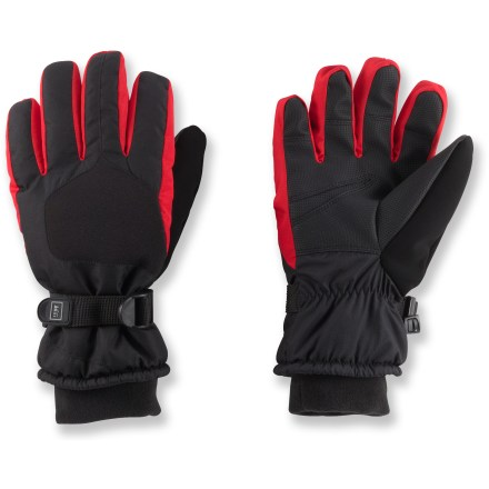 The toasty and waterproof REI Snow Ridge gloves protect kids' hands from chilly wind and wetness. - $6.83