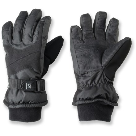 The toasty and waterproof REI Snow Ridge gloves protect kids' hands from chilly wind and wetness. - $29.50