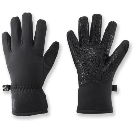 The durable REI All Season Tech Compatible gloves feature conductive material on the thumbs and index fingers, letting boys use touch-screen phones and tablets while keeping their hands warm. Conductive material at the tips of the thumbs and index fingers allows you to send text messages and operate your touch screen without having to remove your gloves. Polyester hard-face fleece with a touch of spandex provides a snug fit, water repellency, wind resistance and breathability. Silicone pattern on the palms improves grip. - $4.83