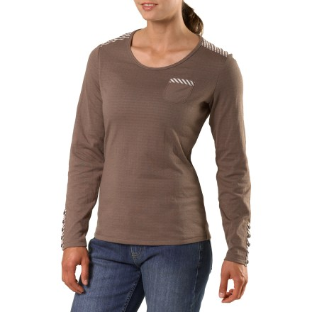 The Riverstone T-shirt from REI is a cozy, beautifully designed everyday layer. Cotton and polyester combine to offer a soft, durable and easy-care fabric; double layer fabric is substantial, yet, not bulky. Style details include a back shoulder yoke, faux button-cuff plackets and a chest pocket. REI Riverstone T-shirt offers a classic, easy-wearing fit. - $10.83