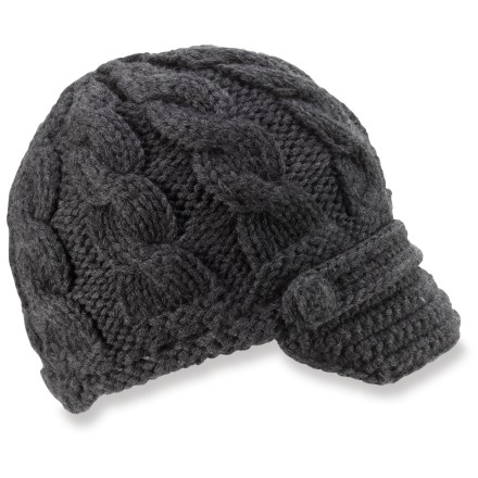 Entertainment The REI Merino Wool Visor beanie fits well beneath the hood of your parka to keep your head toasty warm on a winter day. - $16.83