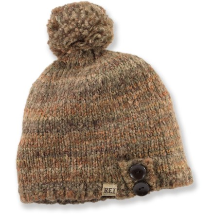Entertainment Turn a cold walk through town into a comfortable winter adventure with the REI Variegated Cloche hat. Soft acrylic/wool/polyester blend offers good warmth. Polyester fleece earband lining is comfortable next to skin. - $13.83