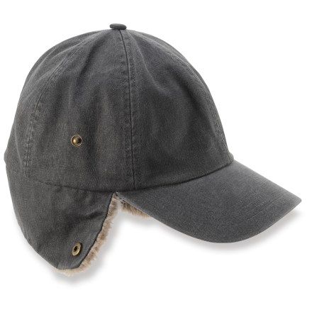 Sports Keep your head warm on urban escapades with the stylish REI Faux Leather cap. - $12.83