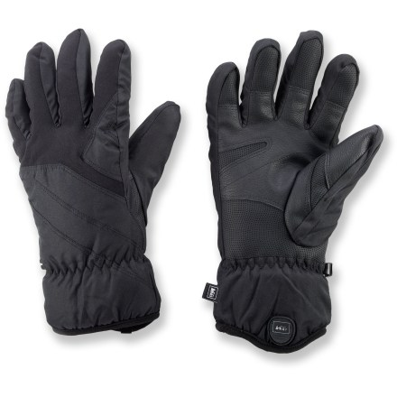 Ski For winter walks and chilly morning activities, REI Tahoma winter gloves will get you through the cold season in warmth and comfort. Polyester shells resist snow, rain and wind, yet breathe well to keep hands comfortable. Precurved construction follows the relaxed lie of the hand for a natural fit with reduced bulk and great comfort. Lightweight, non-bulky polyester fiber insulation delivers great warmth, expels moisture and enhances dexterity. Soft polyester fleece linings feel great next to skin. REI Tahoma gloves have synthetic leather palms for gripping ski poles and other gear. - $29.50