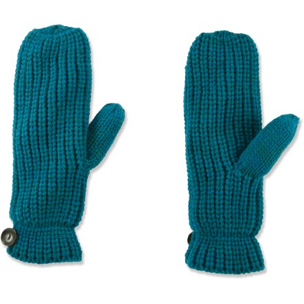 The REI Marled mittens have attractive knit exteriors that are lined with plush polyester fleece for supreme comfort on chilly winter mornings. Soft acrylic knit offers excellent warmth; it also breathes well when you're active and dries quickly when damp. Polyester fleece adds warmth and feels great next to skin. - $11.83