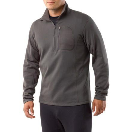 Fitness Ready to heat up your workout, the REI Powerflyte half-zip top in men's tall sizes offers chill-reducing comfort and a fit that moves with you. Active fit with 4-way stretch is perfect for outdoor training, and it also works great as a base layer in cool weather. Lightweight fleece features a moisture-wicking, quick-drying brushed inner face and a smooth outer face. Fabric offers a UPF rating of 50+. Side panels of Polartec(R) Power Dry(R) fabric wick moisture, dry quickly and enhance comfort. Deep front zipper makes it easy to put on the men's tall REI Powerflyte half-zip top, and it offers cooling ventilation when the day heats up. Locking zipper won't bounce around on the run. Zippered chest pocket stores small items and features a headphone port. Ergonomic seam placement, flat seams and fabric with 4-way stretch complement your natural movements. The REI Powerflyte half-zip top in men's tall sizes features reflective highlights that increase visibility in dim light. - $47.93