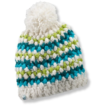 Entertainment Wherever you roam this winter you'll be warm with the REI Popcorn knit hat on your head. Soft acrylic knit offers excellent warmth; it also breathes well when you're active and dries quickly when damp. - $11.83