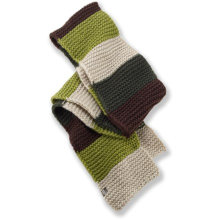Add a splash of color and a bundle of warmth to your winter wardrobe with the REI Stripe scarf. Soft acrylic knit offers excellent warmth; it also breathes well when you're active and dries quickly when damp. - $12.83