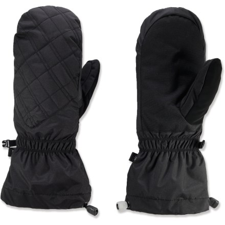 Climbing Whether you're climbing a glaciated peak or walking the dog on a frigid winter day, the REI Deep Cold mittens will keep your fingers toasty. Durable nylon shells stand up to frequent use on winter outings. Heavyweight synthetic insulation provides excellent warmth for very cold days. Cordura nylon palms resist abrasion. REI Deep Cold mittens have gauntlet cuffs with 1-hand-adjustable drawcords to seal out cold air and snow. - $21.83