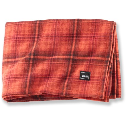 This cozy, printed REI fleece blanket is perfect for traveling, afternoon naps or settling in with a good book. Comfortable, warm microfleece is velvety soft and feels great against your skin. Lightweight and machine washable. - $29.50