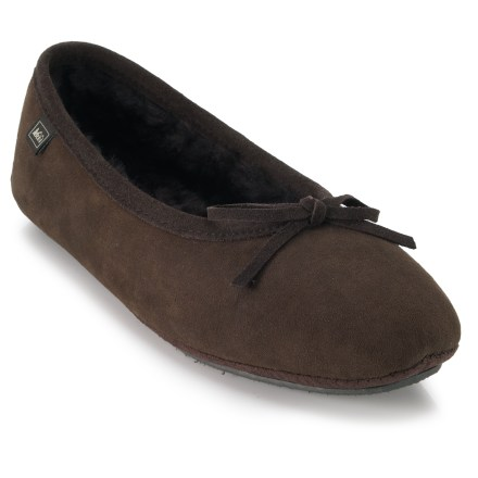 Entertainment REI Shearling Ballet slippers combine fashionable styling with oh-so-warm coziness for warm toes all through the fall and winter. - $15.83