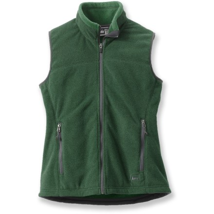 The REI Polartec Thermal Pro Fleece vest is the perfect choice for quick, non-bulky warmth while adventuring outdoors. Polartec(R) Thermal Pro(R) fleece keeps your core warm as the temperature drops. Zippered handwarmer pockets keep small items secure. Special buy. - $26.73