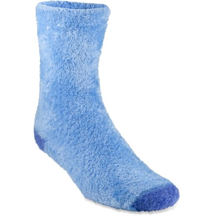 The REI Cozy Tipped crew socks keep feet warm and comfortable, and offer amazing stretch for a perfect fit. Microfiber nylon and polyester fleece are blended with spandex for ample stretch, durability and comfort. Flat toe seams keep REI Cozy Tipped crew socks smooth and nonirritating. 1 size fits most. Closeout. - $3.83
