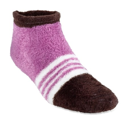 The REI Cozy Anklet socks offer ample stretch for a perfect fit. Microfiber nylon and polyester fleece are blended with spandex for ample stretch, durability and comfort. Flat toe seams keep REI Cozy Anklet socks smooth and nonirritating. 1 size fits most. Closeout. - $3.73