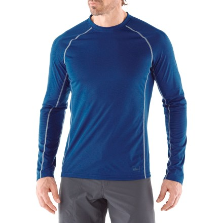 The REI Lightweight Polartec(R) Power Dry(R) long-sleeve crew performs well as a baselayer underneath other insulating pieces or on its own in warmer weather. - $7.83