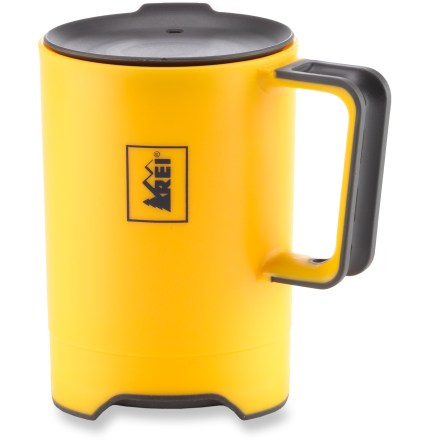 Camp and Hike Perfect for backpacking trips and everyday use, the lightweight and rugged REI Tripod Mug holds 18 fl. oz. of your favorite beverage. - $6.83