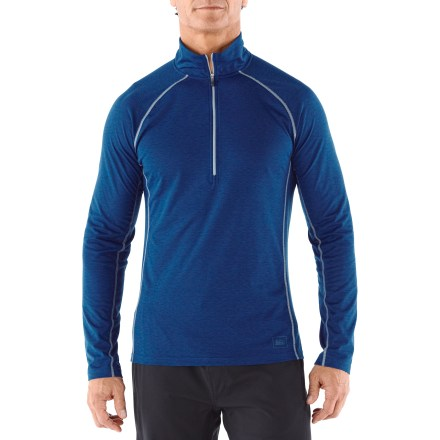 The REI Lightweight Polartec(R) Power Dry(R) Half-Zip top for men can be worn as the first of several layers in colder temperatures or alone when you need less insulation. - $9.83
