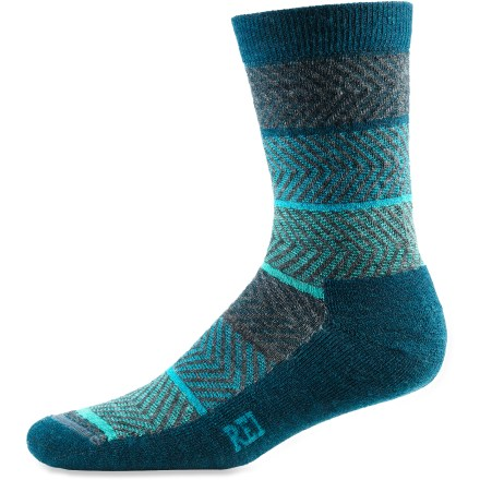 Fitness The REI Herringbone crew socks offer everyday comfort in a fun, casual style. - $9.93