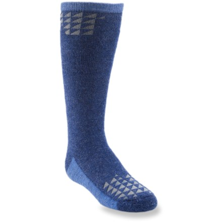 Ski The boys' REI Geometropolis ski socks offer your youngster warmth and cushioning for happy times in the snow. Blend of baby alpaca, nylon and viscose from bamboo provides optimum insulation and moisture management to keep kids' feet warm and dry. A touch of spandex holds socks in place and offers formfitting comfort. Medium-weight cushioning in the sole enhances comfort. *Discount will be applied when you check out. Offer not valid for sale-price items ending in $._3 or $._9. - $13.50