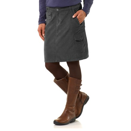 The plus-size REI Riverstone Cord skirt is a great choice when your day calls for jeans--up the fashion ante while remaining just as comfortable! - $14.83