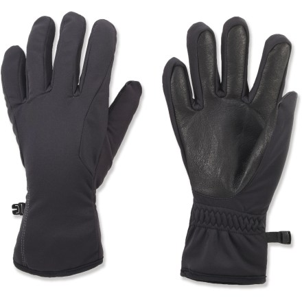 Ski The lightweight, versatile REI One gloves keep hands warm and provide excellent dexterity during winter walks, runs and cross-country ski outings. Polyester fleece provides warmth, and the leather palms ensure you have a good grip on ski poles and other winter gear. REI One gloves have long cuffs to keep out snow and wind. - $36.50