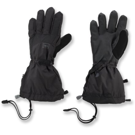 Ski The REI Tech-Compatible Switchback gloves are built tough to keep hands dry and warm while you're skiing couloirs and climbing peaks. Waterproof, breathable REI Elements(R) inserts keep hands dry while you backcountry ski, traverse glaciers and play in the snow. Removable fleece liners keep hands warm in winter; wear just the liner gloves for jobs requiring greater dexterity. Conductive material at the tips of the thumbs and index fingers on the liner gloves allows you to send text messages and operate your touch-screen phone with the gloves on. Grippy palms handle ice tools and ski poles with ease. Soft fabric on the thumbs gives you a gentle place to wipe your nose. Wrist cinches and gauntlet closures are easy to operate with 1 hand. Removable leashes secure the REI Tech-Compatible Switchback gloves to your wrists so you won't lose them. - $33.83