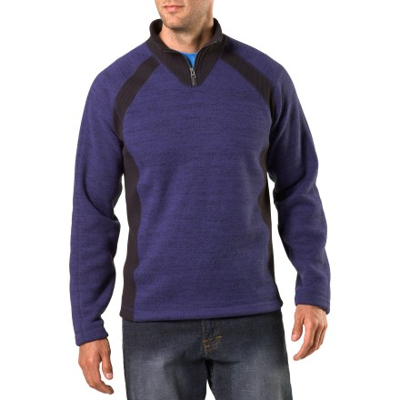 Destined to be your new favorite, the REI Riverstone Quarter-Zip fleece top has a soft brushed interior and a comfortable relaxed fit for casual adventures. Thick polyester fleece is soft and warm; flexible knit side panels ensure comfort. Quarter-zip neck allows you to keep warmth in or let it out, depending on your activity level. Raglan sleeves eliminate shoulder seams for increased range of motion and comfort. The REI Riverstone Quarter-Zip fleece top has a relaxed fit for freedom of movement. - $74.50
