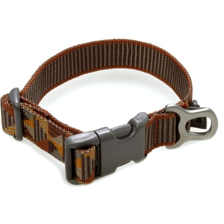 Camp and Hike This REI dog collar is made of burly polyester webbing and features a vibrant woven stripe pattern. - $1.83