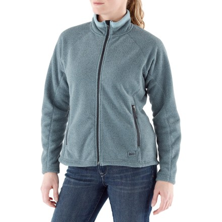 The REI Polartec(R) Thermal Pro(R) fleece jacket offers warmth and comfort, whether worn alone or layered under a shell. - $44.73
