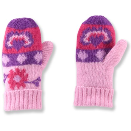 The toddlers' REI Fair Isle mittens for young girls are made of a warm, non-irritating wool blend to keep little fingers comfortable during fall and winter outings. Brushed polyester microfleece lining is soft and comfortable. - $10.83