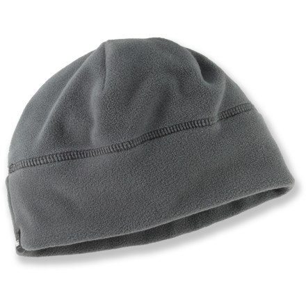 Entertainment The boys' REI Mountain fleece hat helps keep kids warm, and it keeps them in style! Double-sided polyester fleece provides warmth, durability and breathability without a lot of weight and bulkiness. Hat folds up easily for packing or stuffing into a hip or jacket pocket. - $7.93