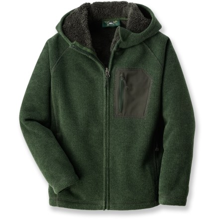 Hunting The heavy-weight REI Quartz Peak fleece jacket is sure to keep boys warm during their cold-weather activities. - $15.83