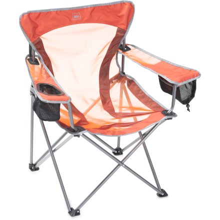 Camp and Hike This travel-friendly chair raises the bar for comfort with exclusive X-Web technology that evenly distributes your weight to make your campfire or backyard lounge sessions so much more enjoyable. - $39.50