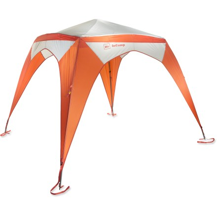Camp and Hike The REI InCamp shelter is built with convertability and connections in mind. This strong, freestanding sun/weather shelter can be used on it's own or integrated to form an extended habitat. - $104.83