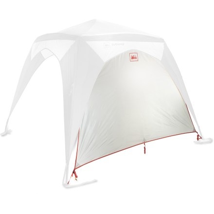 Camp and Hike The REI InCamp Shelter Wing accessory panel adds wind and sun protection to the REI InCamp Shelter, sold separately. It also provides the opportunity to create more covered area at your campsite. Sold as a single panel, it can be made into a wall or awning. Creating an awning requires 2 REI Adjustable Tarp poles, sold separately. Up to 4 panels can be used per 1 InCamp Shelter. Get creative and use the InCamp Shelter with Shelter Wing panels for integration with other tents or vehicles to create large living spaces and shelter areas. - $21.93