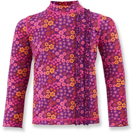 Surf Our quick-drying, long-sleeve REI Shoreplay rashguard keeps young girls comfortable, stylish and better protected from the sun when she wears it riverside, poolside or oceanside. - $6.83
