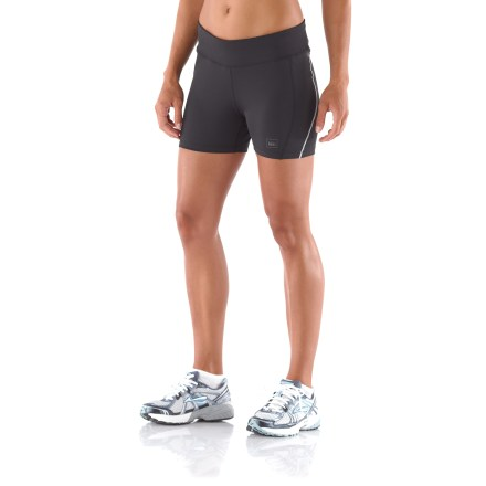 Fitness The perfect complement to a running dress, REI Fleet Compression shorts match the intensity of your workout with sleek comfort. - $9.83