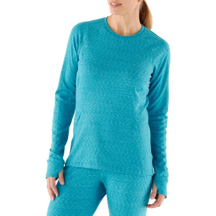 Featuring a splash of eye-catching color, the REI Midweight Space Dye Crew shirt can be worn alone or used as a performance base layer. - $22.83