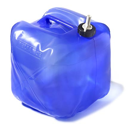 Entertainment Conveniently carry extra water conveniently in this collapsible 5 gal. Reliace Fold-A-Carrier water carrier. - $9.25