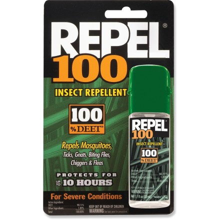 Camp and Hike Repel 100 DEET insect repellent provides complete protection against mosquitoes, chiggers, no-see-ums, ticks, gnats and biting flies. - $5.95