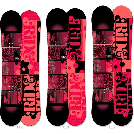 "Snowboard The feature-rich Ride Compact women's snowboard offers a smooth ride and hook-free control for park and all-mountain riding. LowRize(TM) rocker provides optimal hook-free goodness and allows you to lock in big landings without the fear of ""rocker washout"". Ladies-Specific Design (LSD) tweaks the sidecut, waist width and flex to dial the ride just for women. Twin shape places you in a centered stance for a balanced ride whether riding regular or switch. Tuned wood core incorporates high-energy ""uppers"" and vibration-absorbing ""downers"" for maximum snap and feel. Skate-inspired Slimewalls(R) sidewalls absorb impact and smooth the interaction between the board and the wood, metal and snowy surfaces you slide on. Urethane-infused Membrain(TM) topsheet offers high-quality textures and aesthetics at less than half the weight of traditional plastic topsheets. Edges contain nearly 50% more steel than standard edges, resulting in unmatched resistance to edge cracking; can be ""detuned"" to enlarge board's turning radii. Woven biaxial fiberglass contributes to a fun, forgiving ride. Ride Compact women's snowboard features a Fusion 1500 extruded base that is absorbs wax well and is easy to repair. . - $359.95"