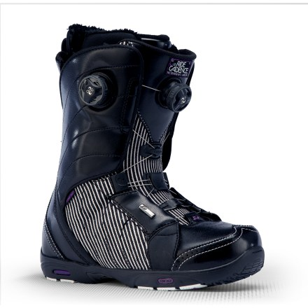 Snowboard The Ride Cadence Boa Focus snowboard boots blend freestyle mobility with lightweight goodness. These stylin' high-end boots offer a precise fit and first-class function. Easy-moving Intuition(TM) Mobile liners with dual-density foam are body-heat activated over several days or immediately custom-formable on in-store pipe heaters. Liners securely wrap feet and include internal and external heel-locking J-bars with cored ankle pockets; 3D-formed, dual-density EVA footbeds provide anatomic support. Impacto multi-density insoles add structural support in the heels for cush landings and all-day comfort. Lock Down speed laces tighten liners quickly and easily for a supportive, nonslip fit; Tallboy Harness wraps insteps and ankles for a supportive flex and responsive fit. Rip-and-stick boot cuff adjustments allow a personalized fit around the calves for enhanced comfort. Boa(R) Focus lacing system personalizes the fit by allowing the upper and lower zones to tighten independently of each other. Boa Focus concentrates closure on the instep and allows superior heel hold no matter how loose or snug the upper zone is cranked. Closer Lace Guides centered over the forefeet drive power down low and even out the lace tension throughout the entire boot; molded 3D tongues add support and comfort. Ride Cadence boots are built with Blown Light Apex outsoles, featuring heel impact gel pods for superior comfort. - $289.95