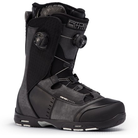 Snowboard The Ride Insano Boa Focus snowboard boots offer proven performance for hard-chargers needing response and comfort. Intuition(TM) Dream liners with a supportive skeletal structure surrounded by multi-density foam provide maximum rebound and dreamy performance. Liners securely wrap feet and include internal and external heel-locking J-bars with cored ankle pockets; 3D-formed, dual-density EVA footbeds provide anatomic support. Impacto multi-density insoles add structural support in the heels for cush landings and all-day comfort. Lock Down speed laces tighten liners quickly and easily for a supportive, nonslip fit; Tallboy Harness wraps insteps and ankles for a supportive flex and responsive fit. Boa(R) Focus lacing system personalizes the fit by allowing the upper and lower zones to tighten independently of each other. Boa Focus concentrates closure on the instep and allows superior heel hold no matter how loose or snug the upper zone is cranked. Closer Lace Guides centered over the forefeet drive power down low and even out the lace tension throughout the entire boot; molded 3D tongues add support and comfort. Insano Boa Focus boots are built with Blown Light Apex outsoles;100% phylon gives a barefoot feel, gel pods in heels cushion landings and ice pick inserts grip snow and ice. - $339.95
