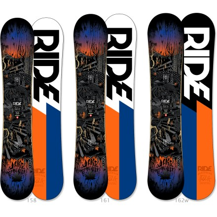 Snowboard Get cray! The Ride Berzerker snowboard elevates your ride, no matter what pitch, pow or park profile the mountain throws at you. Hybrid All Mountain shape features a rocker in the nose and a micro-camber zone that extends under the feet and through the tail for extra pop. Directional twin shape provides plenty of overall float and control, offering a balanced ride that's equally versatile ridden regular or switch. Pop Rods(R) wood core features carbon rods in the tip and tail, creating potent pop without adding stiffness; ideal for all freestyle maneuvers. Carbon Array 3(TM) stringers in the binding zone channel power to the board for maximum control. Skate-inspired Slimewalls(R) sidewalls absorb impact and smooth the interaction between the board and the wood, metal and snowy surfaces you slide on. Biaxial glass on top and triaxial glass on the base combine to provide a complete web of protection around core. Ride Berzerker snowboard features a Fusion 4000 sintered base that is durable, hard and, best of all, fast. . - $499.95