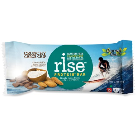 Camp and Hike Satisfy your hunger with a tasty Rise protein bar. Each bar contains at least 17g of protein to support muscle recovery after a workout. - $2.50
