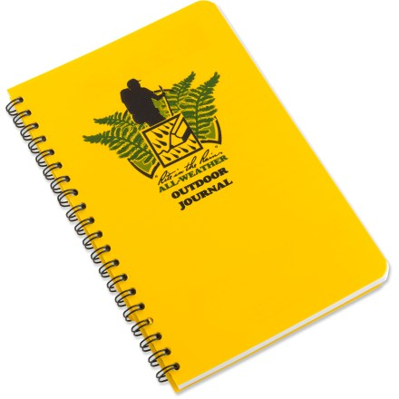 The large Rite in the Rain outdoor journal features a unique, all-weather paper that sheds water and preserves the written image, even when wet. - $10.00