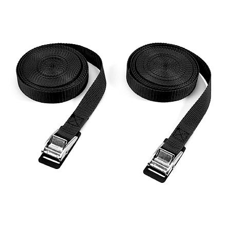 Camp and Hike Use these heavy-duty utility straps to securely and safely tie down canoes, kayaks, luggage and other items. - $15.50