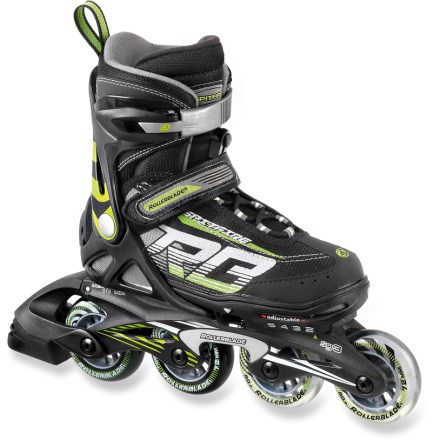 Entertainment Get your kids interested in skating with the comfortable and supportive Rollerblade Spitfire XT inline skates. Cuff buckles, instep straps and speed lacing secure kids' feet in the skates. Expandable design accommodates growing feet. 72mm wheels with SG3 bearings roll smoothly and provide a stable ride for casual skating. Composite frames are sturdy and supportive. - $89.00