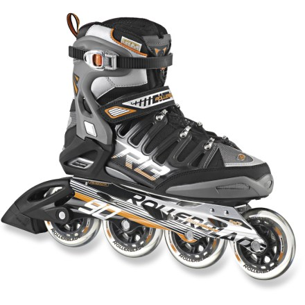 Entertainment The high-performance Rollerblade Crossfire 90 inline skates have the support of full-height cuffs to reduce fatigue when you're out for a casual skate or a training session. Asymmetric lacing system makes the uppers conform to the shape of your feet for a close fit that provides support when you're skating. With a slightly shorter frame than some other models, the Crossfire 90 skates offer good balance and great maneuverability. Comfortable liners allow easy entry and a great fit. 90mm wheels with SG9 bearings provide a stable ride on paved surfaces. - $149.93