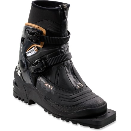 Ski The Rossignol BC X11 75mm backcountry ski boots let you get off the beaten path and make turns in untouched terrain. - $119.93